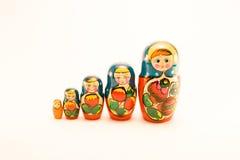 Matrioska vijf Royalty-vrije Stock Foto's