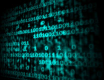 Matriskoden Copyspace visar Digital nummer som programmerar Backgrou Arkivbild