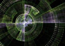 Matrix. Datail view of matrix radar in fractal form stock illustration