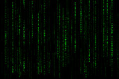 Matrix. Green matrix creative background. Falling Japanese characters Royalty Free Stock Photography