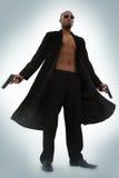 Matrix-Art-Rollen-Spiel-Zeichen-Erwachsen-Mann Lizenzfreie Stockfotografie