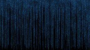 Matrix avec le fond bleu de symboles illustration de vecteur