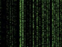 Matrix background. Matrix-like glowing green -black background royalty free illustration