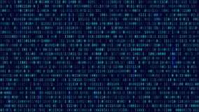Matrix Background with blue light. Binary Computer Code. Vector. Illustration. Format 16:9 Royalty Free Illustration