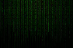 Matrix background with the green binary code Stock Image