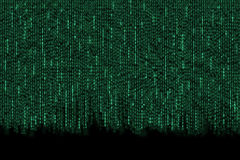 Matrix background with the green symbols Stock Photo