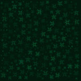Matrix background with the green symbols and flowers Stock Photography