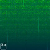Matrix background with the green symbols. Vector Royalty Free Stock Images