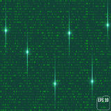 Matrix background with the green symbols. Vector Stock Image