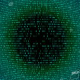 Matrix background with the green symbols, volume effect Royalty Free Stock Images