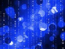 Matrix Background Shows Digital Programming And Futuristic Royalty Free Stock Image
