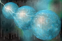 Matrix, binärer Code. stock abbildung