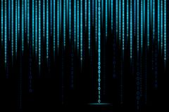 Matrix Binary Background Stock Photography