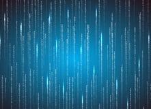Matrix binary code. Technology illustration Stock Photography