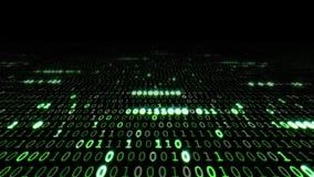 Matrix binary code royalty free illustration