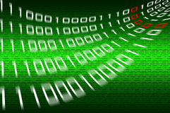 Matrix binary numbers background Stock Photo