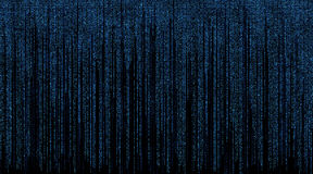 Matrix with Blue Symbols Background Royalty Free Stock Image