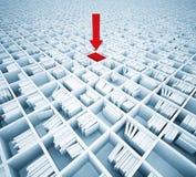 Matrix of bookshelfs Stock Photography