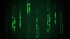 Matrix Characters Falling Background