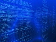 Matrix Code. 3d rendered illustration of a digital code Royalty Free Stock Photos