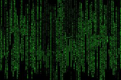 Matrix code. Abstract matrix code on the black background Royalty Free Stock Image