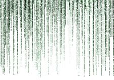 Matrix code on white background Royalty Free Stock Photos