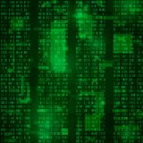 Matrix. coded bitstreams. green vector background.  Royalty Free Stock Images