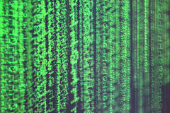 Matrix, computer code, green, digital, numbers, 01, cosmic, cyberspace, Internet Royalty Free Stock Images