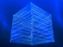 Matrix cube Stock Photo