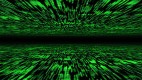 Matrix 3d - flying through energized cyberspace Royalty Free Stock Photo