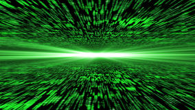 Matrix 3d - flying through energized cyberspace, light on the ho. Rizon, 4k background Stock Photos