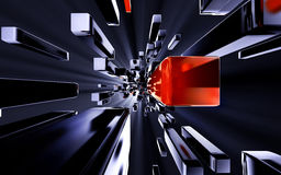 Matrix. 3D illustration of a matrix Stock Photography