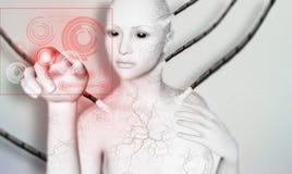 Matrix. 3D illustration of computer design Stock Photography