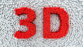 Matrix 3D Royalty Free Stock Photos