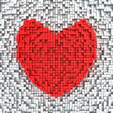Matrix heart Royalty Free Stock Images