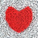 Matrix heart Royalty Free Stock Images