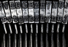 Matrix - letters on old typewriter machine Stock Image