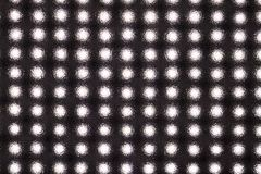 Matrix of light-emitting diodes. Matrix of LEDs behind a textured plastic disc stock photos