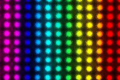 Matrix of light-emitting diodes. Matrix of LEDs behind a textured plastic disc royalty free stock photo
