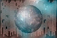 Matrix like, binary code. Binary code, the internet, data transfer, a free interpretation Stock Image