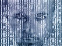 Matrix, Man, Portrait, Face, Model Stock Image