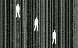 Matrix mit Leuten Stockbilder