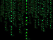 Matrix new year. Happy new year text on green matrix background computer generated Stock Photos
