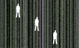 Matrix with people Stock Images