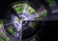 Matrix Radar. Detail view of radar in matrix fractal form royalty free illustration