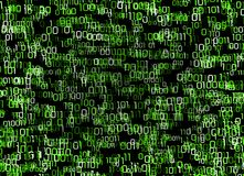 Matrix style binary numbers background Royalty Free Stock Image