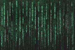 Matrix style futuristic background, green and blac Royalty Free Stock Image
