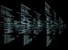 Matrix sur le fond noir Image libre de droits