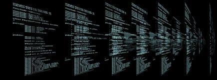 Matrix sur le fond noir Images libres de droits