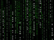 Matrix Tech Shows Digitally Abstract And Data Stock Image